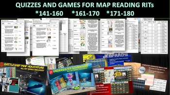 MAP THREE RIT READING QUIZZES AND SIX GAME BUNDLE (141-160