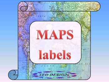 Classroom Decor - Maps - labels - Geography - Frames - Ban