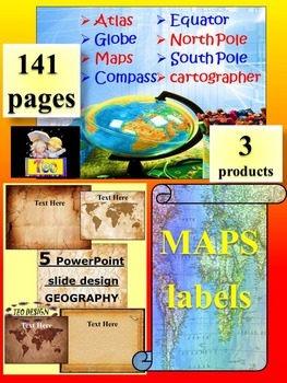 Maps and Globes - Editable Template - labels - Geography -