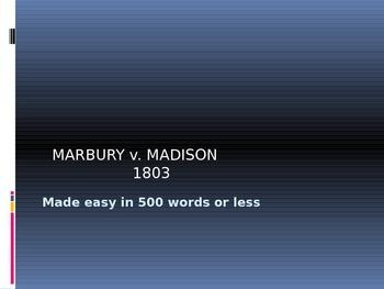MARBURY v. MADISON  MADE EASY