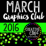 MARCH 2016 Graphics Club {Creative Clips Digital Clipart}
