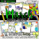 MARCH JOURNAL PROMPTS, BELL RINGERS, SPRING ACTIVITIES, ST