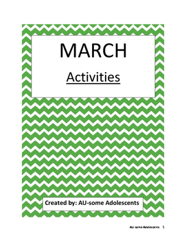 MARCH- Re-usable Activities