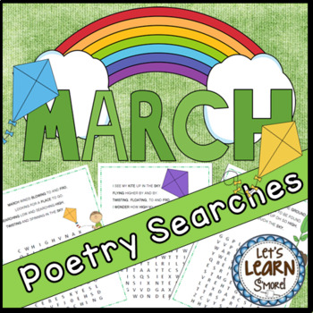 March Poetry, Word Searches, Spring Theme, With Original Poetry