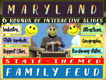 MARYLAND FAMILY FEUD! Engaging game about cities, geograph