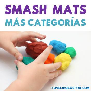 MAS Categorias Smash Mats: NO PREP + Sorts & Coloring in Spanish