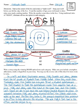 Reading Center: MASH Game (Create a short story)