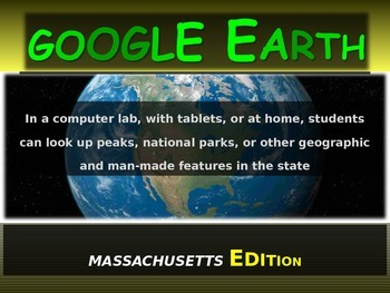 """""""MASSACHUSETTS"""" GOOGLE EARTH Engaging Geography Assignment"""