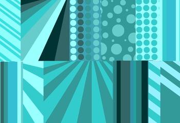 MASSIVE Teal Digital Paper Background Patterns Pack