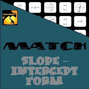 MATCH - Slope-Intercept Form Puzzle