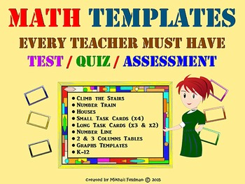 Math Assessment Templates EVERY TEACHER MUST HAVE! Test, Q