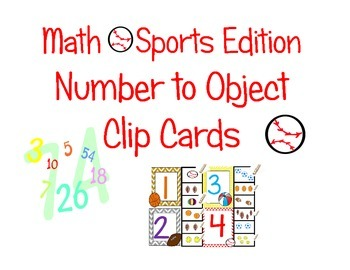 MATH CLIP IT COUNTING ** #S 1-11 NUMBER TO OBJECT MATCH **