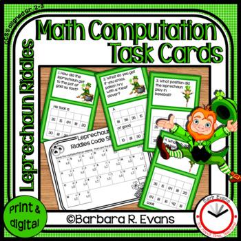 MATH COMPUTATION: Math Center, Math Task Cards, St. Patric