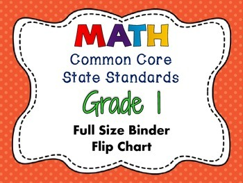 MATH Common Core State Standards: Grade 1 Full Size Binder