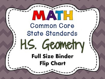 MATH Common Core State Standards: HS Geometry Full Size Bi