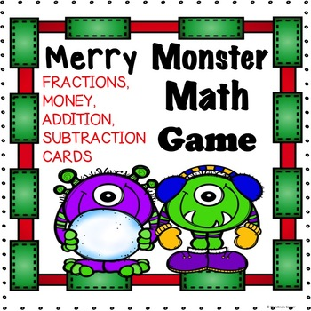 MATH  Fractions Money Addition Subtraction Game Cards PRIN