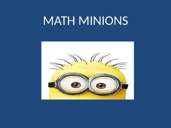 MATH MINIONS! Addition under 10 Powerpoint Game. Word prob