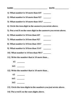 NUMBERS AND NUMBER ORDERING (GRADE 2)