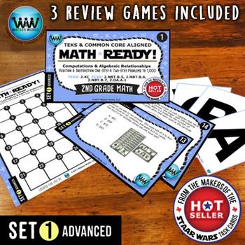 MATH READY 2nd Grade Task Cards: Addition & Subtraction to