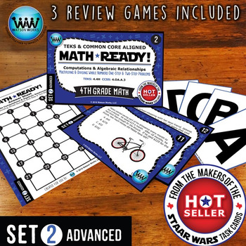 MATH READY 4th Grade Task Cards: Multiply & Divide Whole N