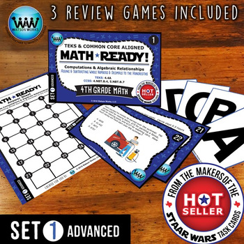MATH READY Task Cards: Add/Subtract Whole Numbers & Decima