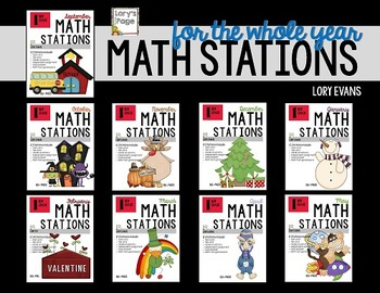 MATH STATIONS - Common Core - Grade 1 ALL YEAR