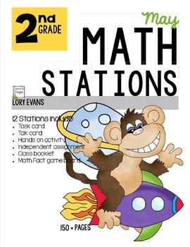 MATH STATIONS - Common Core - Grade 2 - MAY