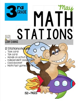 MATH STATIONS - Common Core - Grade 3 - MAY