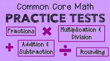 MATH Test Review! {Multiplication, Division, Fractions, Ro