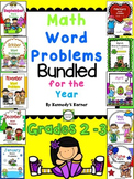 MATH WORD PROBLEMS BUNDLED for the year!