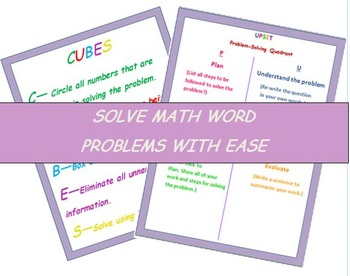 MATH WORD PROBLEMS - SOLVING WITH EASE