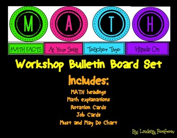 MATH workshop Bulletin Board Set