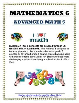 MATH GRADE 6 / ADVANCED MATH GRADE 5
