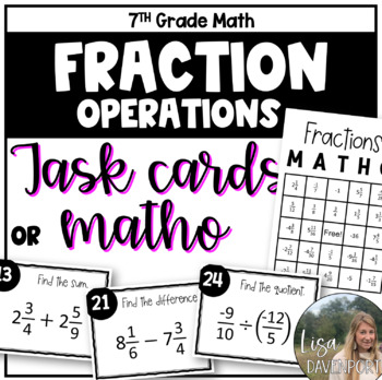 MATHO- Math Bingo (Fractions)