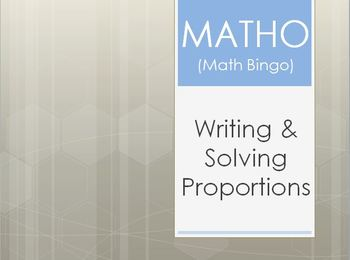 MATHO (Math Bingo)- Proportions