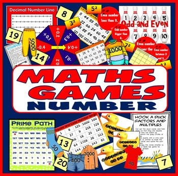 MATHS BOARD GAMES & ACTIVITIES TEACHING RESOURCES KS2-4 NU