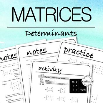 MATRICES - Determinants