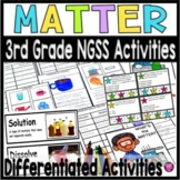3rd GRADE SCIENCE MATTER UNIT WORD WALL and INTERACTIVE BOOK