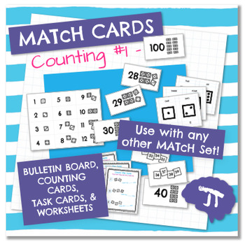 MATcH CARDS Starter Set: 1-100 Counting and Task Cards