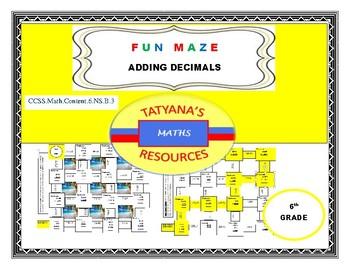 MAZE - Adding Decimals