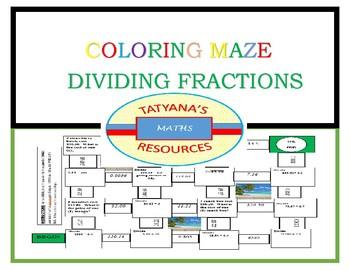 MAZE - Dividing Decimals