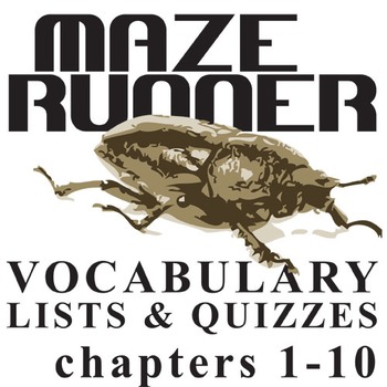 THE MAZE RUNNER Vocabulary List and Quiz (chap 1-10)