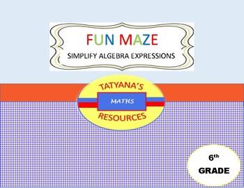 MAZE - simplifying algebraic expressions