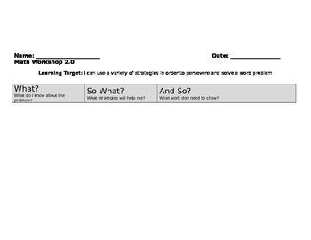 MAth Workshop 2.0 - Topic 3 -2nd grade