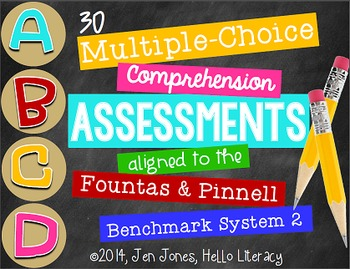 M/C Comprehension Assessments for F&P BAS Kit 2 Books {Sit
