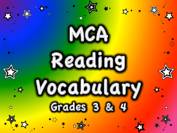 MCA Reading Standardized Test Vocabulary, All Standards Gr