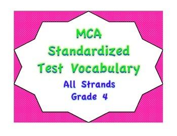 MCA Standardized Test Vocabulary, All Strands Grade 4