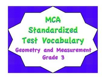 MCA Standardized Test Vocabulary, Geometry and Measurement