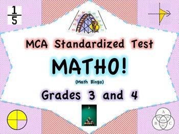 MCA Standardized Test Vocabulary MATHO (Bingo Game)