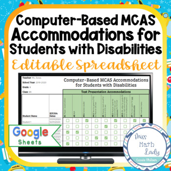 MCAS Special Education Accommodations Checklist